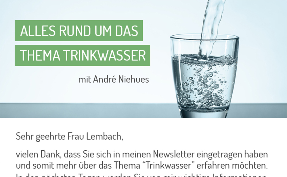 3. Exklusiven Wassertest
